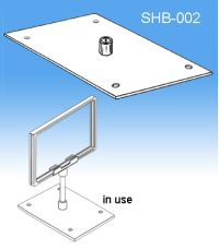 Center Stem Base | Sign Frames for Retail Display, SHB-002
