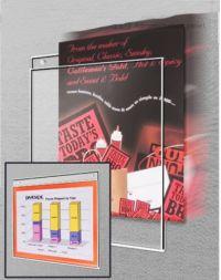 "Wall Mount Acrylic Sign Holder, 11"" x 8.5"", 507"