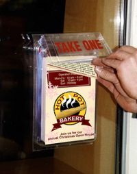 Outdoor Brochure Holder, Storefront Mount, 2MB-5