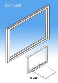 """8.5"""" x 11"""" or 11"""" x 8.5"""" Sign Frame System Components - Display Signs, SHO-085"""