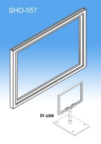 """Sign Frame System Components - Display Plastic Signs, 7"""" x 5-1/2"""" or 5-1/2"""" x 7"""", SHO-557"""