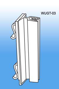 teardrop hole POP display sign holder, gondola upright signs, WUGT-03
