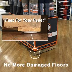 Wood Pallet or plastic pallet Point of Purchase Floor Displays, product merchandising