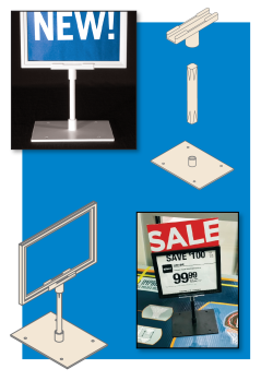Sign Frame System Components - Modular, Made of Styrene