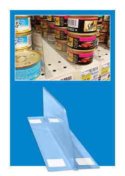 shelf dividers for product merchandising, Clip Strip Corp