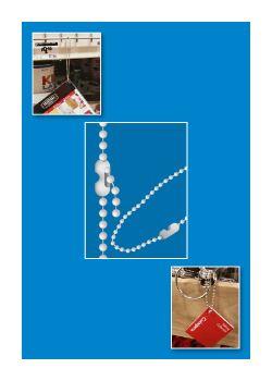 beaded chain fastener