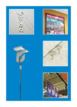 Hanging Accessories - Ceiling Hooks, Assemblies & Links, Clip Strip Corp.