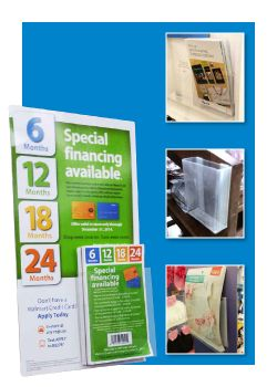 Fold, Peel & Stick Clear PVC - Brochure Racks & Literature Pockets
