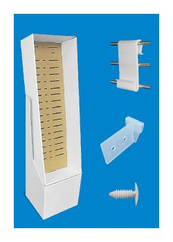 point of purchase display construction shelf support clip