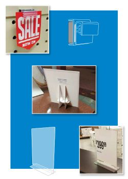 Flat Surface Sign Display Holders | Clip Strip Corp.