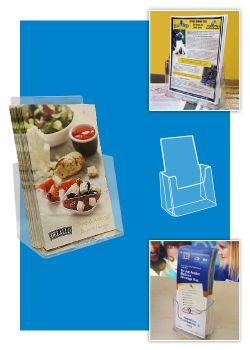 Free Standing Brochure Holders- Deluxe Countertop