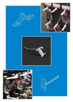 Power Panel Display Hooks - Product Merchandising