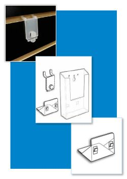 Wall-Mount Literature and Brochure Holders - Adapters, Clip strip Corp.