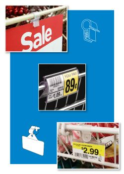 Wire Display Sign Holders | Label Holders