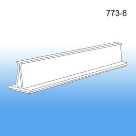 "6"" Clear PVC Sign Holder, 773-6"