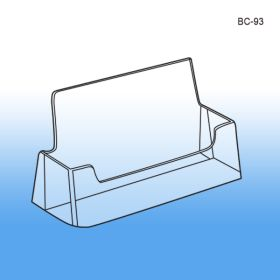 Business Card Holder - Molded Clear Acrylic Plastic, BC-93