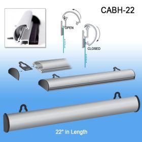 "aluminum banner hanger, up-scale, 22"", CABH-22"