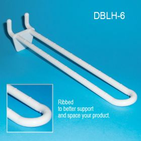 Double Loop Pegboard / Slatwall Hook, DBLH-6