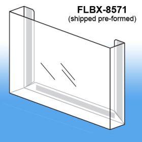 Pre-Formed Peel & Stick Literature Holder, FLBX-8571