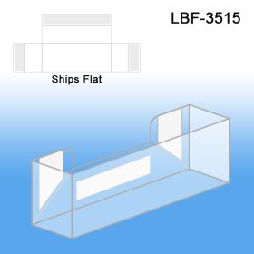 Flat Peel & Stick Literature Holder, Business Cards, LBF-3515