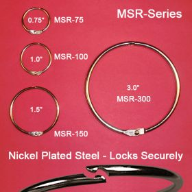 MSR-150, metal hinged snap rings