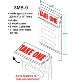 Plastic Literature & Brochure Holders for Outdoor Use - 8.5 x 11 Sheets, 3MB-9