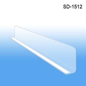 "1"" x 11-9/16"" Adhesive mount Econo-Line Shelf Divider, SD-1512"