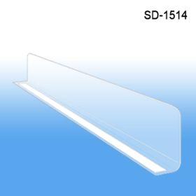 """1"""" x 13-9/16"""" Econo-Line Shelf Divider, SD-1514, Retail Supply"""