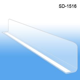 "1"" x 15-9/16"" Econo-Line Shelf Divider, SD-1516, Adhesive Mount"