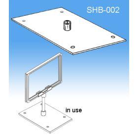 Center Stem Base | Sign Frames for Retail Display, SHB-002