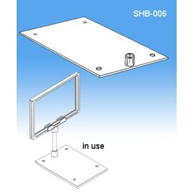 SHB-006, Single Stem Shovel Base | Sign Frame & Display Signs