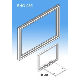 "8.5"" x 11"" or 11"" x 8.5"" Sign Frame System Components - Display Signs, SHO-085"