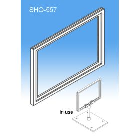 "Sign Frame System Components - Display Plastic Signs, 7"" x 5-1/2"" or 5-1/2"" x 7"", SHO-557"