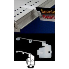 Flag Sign Holder - Shelf Edge Clips & Label Holders, SPL-200, attach to shelf top perforations, SPL-200