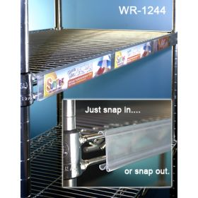 Wire Rack Display shelf edge label holder, WR-1244