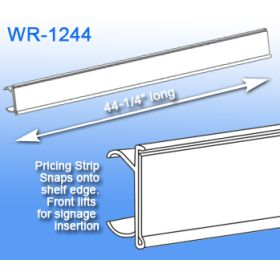 WR-1244, Price Channel Label Holder - Metro Wire Shelving Display