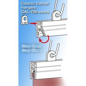 """22"""" Clear PVC Banner Hanger, Sign Holder, GAL-700"""