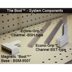 """1/8"""" tall sign channel for boot sytem signs, BST-508"""