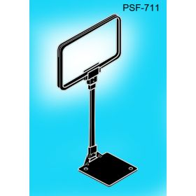 Premium Sign Frame with Wedge Base & Adjustable Height Stem, PSF-711, 11 inch x 7 inch