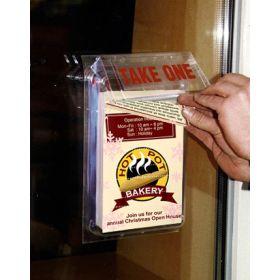 Outdoor Brochure Holder, Storefront Mount, 2MB-5