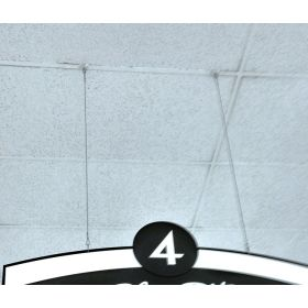 """36"""" cable with loops for ceiling sign hanging, CBSH-36"""