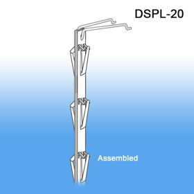 Assembled and ready to hang from Gondola Shelf, DSPL-20, retail cross sales