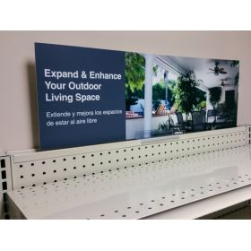 grocery metal shelf sign adapter, GT-56