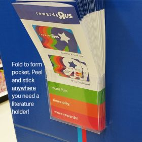 Flat Peel & Stick Literature Holder, LBF-4050