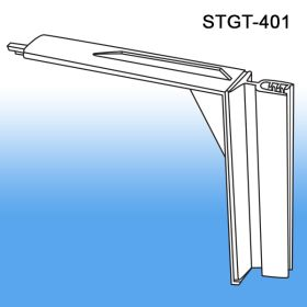 metal perforated gondola shelf flex sign topper holder, STGT-401