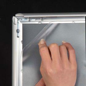11 x 17 glare proof silver mitred corner