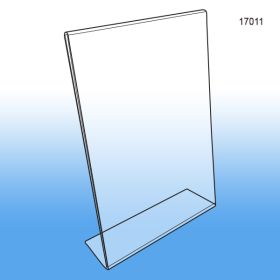 "8.5"" x 11"" Acrylic Slanted Sign Holders 