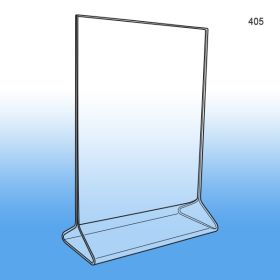 "Top Loading Acrylic Sign Holder 5"" x 7"", #405"