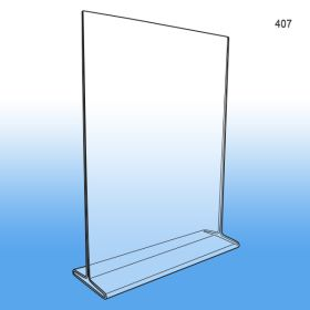 Item #407, Top Loading Acrylic Sign Holder 8 1/2 x 11