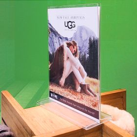 top loading acrylic sign holder 8-1/2 x 11, 407